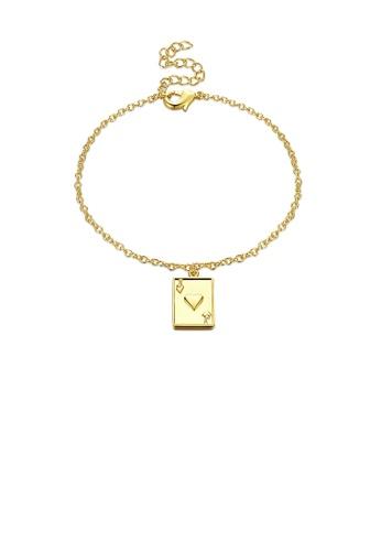 Glamorousky silver Fashion Simple Plated Gold Poker Bracelet 9F14CACE4B9D12GS_1