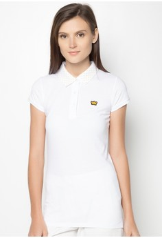 Polkadot Collar Polo Shirt