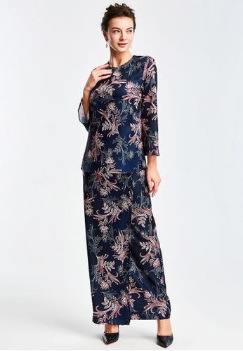 Era Maya blue Premium Batik Prints Baju Kurung Kedah Modern 4C8BDAA77EBB03GS_1