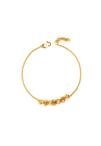 TOMEI gold TOMEI Mirthful Sphericity in Linearity Bracelet, Yellow Gold 916 (BB3368-1C) 85858AC1A354B9GS_1