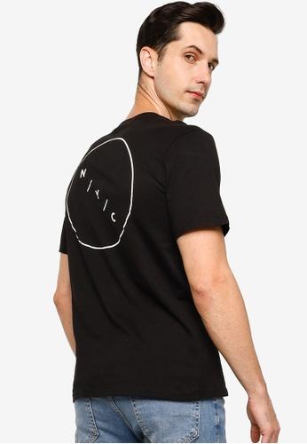 Cotton On black Tbar Text T-Shirt 1F815AA45AEA09GS_1