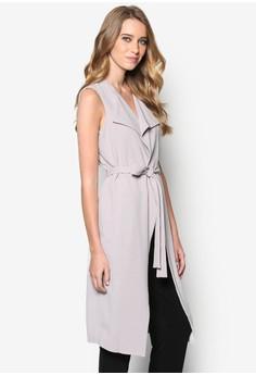 Grey Sleeveless Longline Jacket