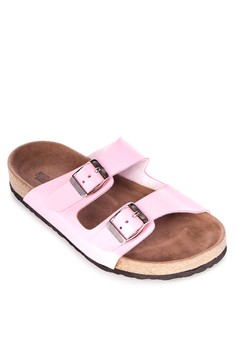 Janelle Two Straps Flat Slides