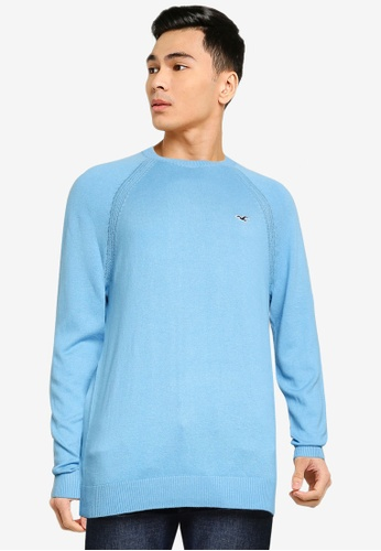 Hollister blue Core Crew Neck Knit Sweater E3DC2AA3AE0273GS_1