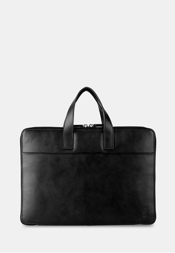 "toffee black Slim Leather 13"" Laptop Brief TO318AC98DXLSG_1"