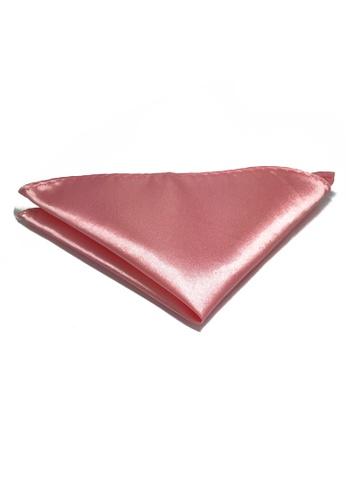 Splice Cufflinks Lustrous Series Pink Polyester Pocket Square SP744AC72KTVSG_1