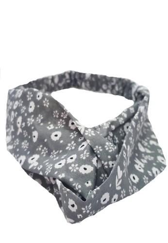 San Marco multi and grey Twisted Headband Fleur Grey 72F13BE1D61AEFGS_1