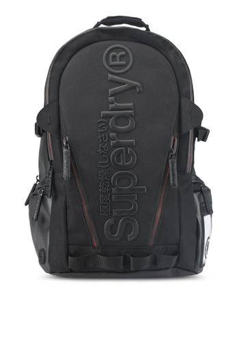 Superdry black Buff Tarp Backpack 30437AC1C05F80GS_1