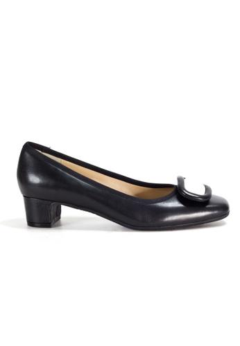 Shu Talk black 60s Retro Elegant Aurdey Square Toe Low Heels 1C40DSHE0202A2GS_1