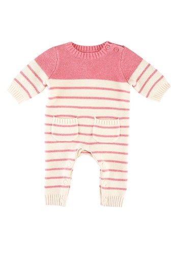 GAP pink Striped Knitted Jumpsuit 17577KADF1FBF3GS_1