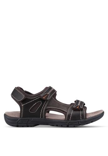 Weinbrenner brown Velcro Strap Sandals 0826CSH40D47F4GS_1