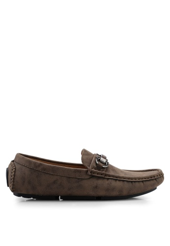 High Cultured brown Horsebit Loafers-338 C0504SH40B0D32GS_1