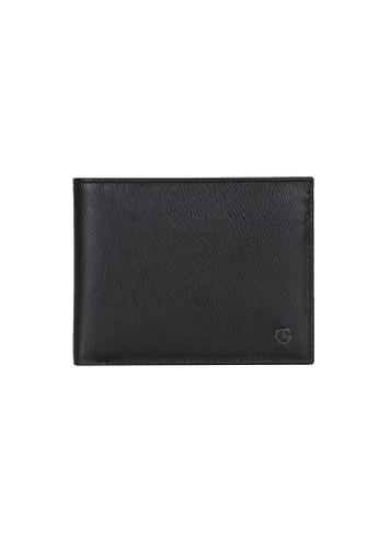 Goldlion black Goldlion Men Leather Wallet (6 Cards Slot, Window Compartment) - Black CC57AAC6983DBAGS_1
