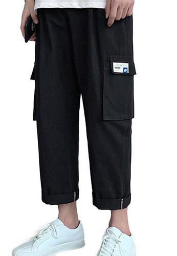 Sunnydaysweety black Causal Roll Leg Cargo Pants A21032321BK 6B29EAAA2F88EBGS_1