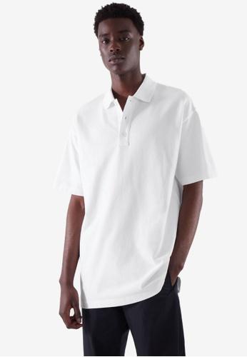 COS white Polo Shirt 508D9AA236E39EGS_1