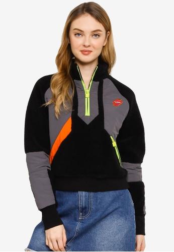 SUPERDRY 黑色 Sportstyle Energy Funnel Sweatshirt - Sportstyle Code 2FB05AADD2C13DGS_1