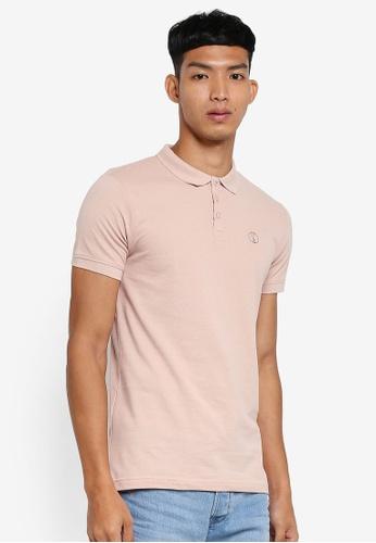 !Solid 粉紅色 短袖休閒POLO衫 C3F1FAAC4FAE06GS_1