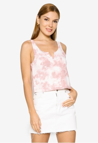 Hollister pink Gilly Hicks Printed Cozy Notch Tank Top 8D038AA5FC4718GS_1