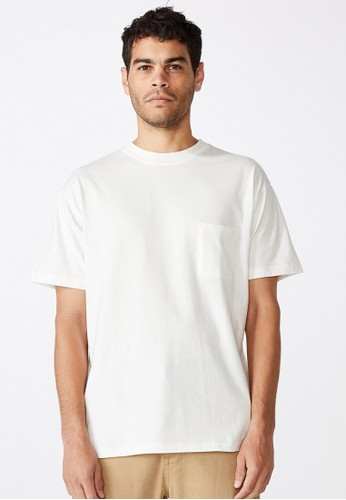 Cotton On white loose fit washed pocket tee 0ACB1AA03A0294GS_1