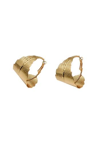 Mellow gold Golden Leaf Earrings 1514FAC4021437GS_1