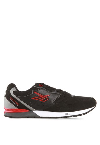 Spotec black and red Colombus Running Shoes SP567SH27WTKID_1