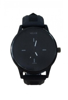 Black Miler Silicone Band Watch