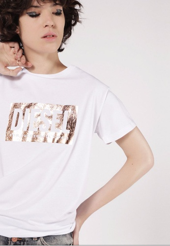 Diesel white T-Foil Tshirt 999DBAAACBA29BGS_1