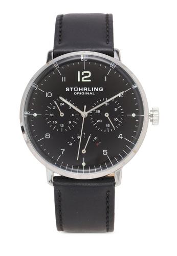 Stuhrling Original black Quartz Multifunction Black Dial Watch 0668EAC32B11CFGS_1