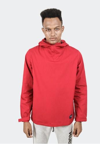 Celciusmen red CELCIUS Half Zipp Hood Jacket B3084R 44B4AAA2075449GS_1