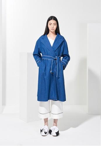 EJnolee blue Medium Blue Denim Coat EJ188AA0FIGDSG_1