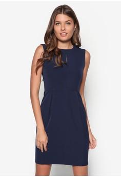 Collection Frontslit Midi Sheath Dress