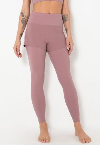 Trendyshop pink 2-in-1 High-Elastic Fitness Leggings BBBB6USB791242GS_1
