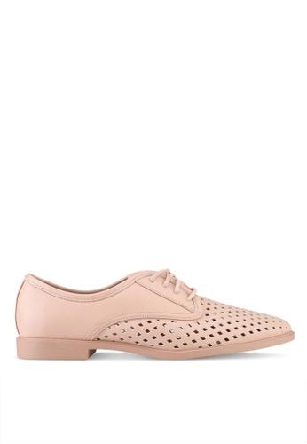 Rubi pink Lana Laser Cut Oxford Shoes E6666SH8C36288GS_1