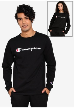 c1b903c63e9b Champion black US Range Heritage Ink Elevated Graphics Long Sleeve Tee  16A1EAA87D2ACAGS_1