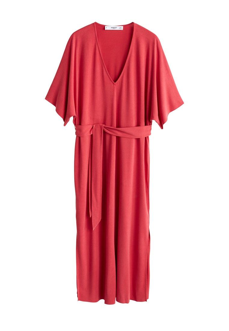Dress Mango Dress Modal Bow Mango Bow Red Modal BwqX76