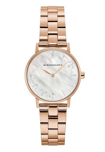 BCBG pink BCBGMAXAZRIA Rose Gold Stainless Steel Watch 065C0ACC959E26GS_1