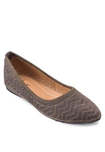 刺繡印花平底鞋, 女鞋, esprit台灣門市鞋