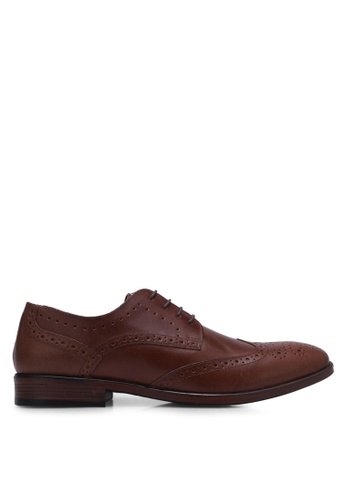 Burton Menswear London brown Brown Leather Brogue AEB86SHB21D74EGS_1