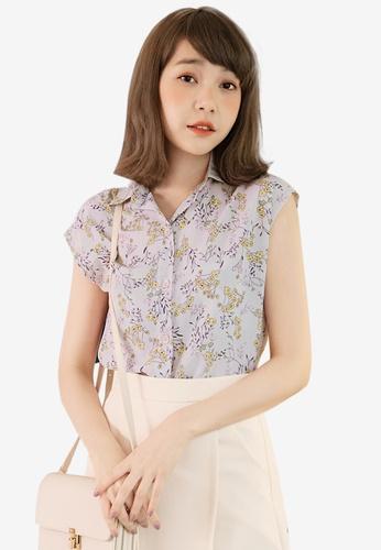 Eyescream pink Floral Blouse 755A8AA07D8479GS_1