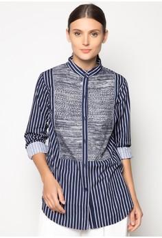 Striped Buttondown Top