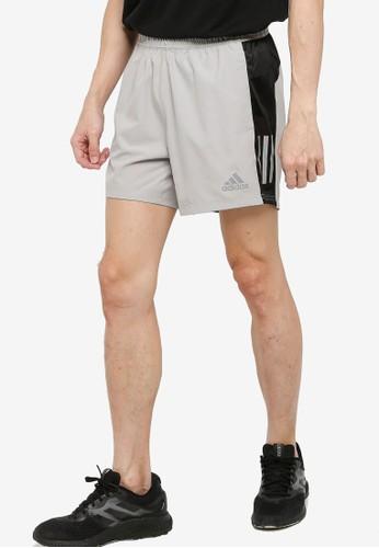 ADIDAS grey own the run shorts B75C7AAEC48A2CGS_1