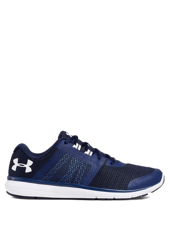 Under Armour navy UA Fuse Fast Running Shoes 9DA59SH52D5136GS_1