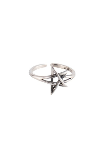 A-Excellence silver Premium S925 Sliver Star Ring D761CAC7385006GS_1