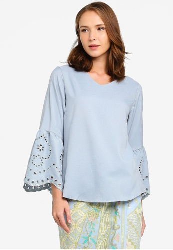 BLOUSE DOLLY + PARIO from NOOR ARFA in Blue