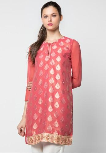 Chanira Festive Collection pink Raqia Glitter Short Tunic CH354AA53BIWID_1