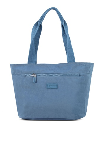 Bagstationz blue Crinkled Nylon Tote Bag 796CCACAB6FFBBGS_1