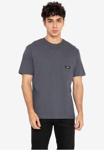 H&M blue Chest-Pocket T-Shirt 4812FAA39F7D91GS_1