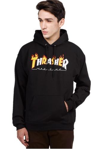 084ab77cf63e Thrasher black Thrasher Flame Mag Hoodie Black 878A5AA85AB191GS 1