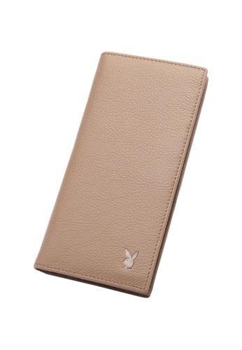 Playboy beige Long Wallet 2F186AC307EF16GS_1