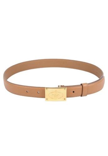 Prada brown Prada Saffiano Fibbia Belt in Brown 33D50AC0490CFDGS_1